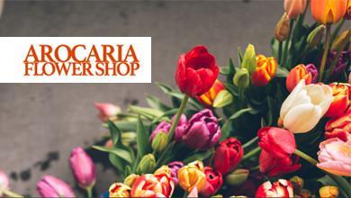 Arocaria Flower Shop Logo